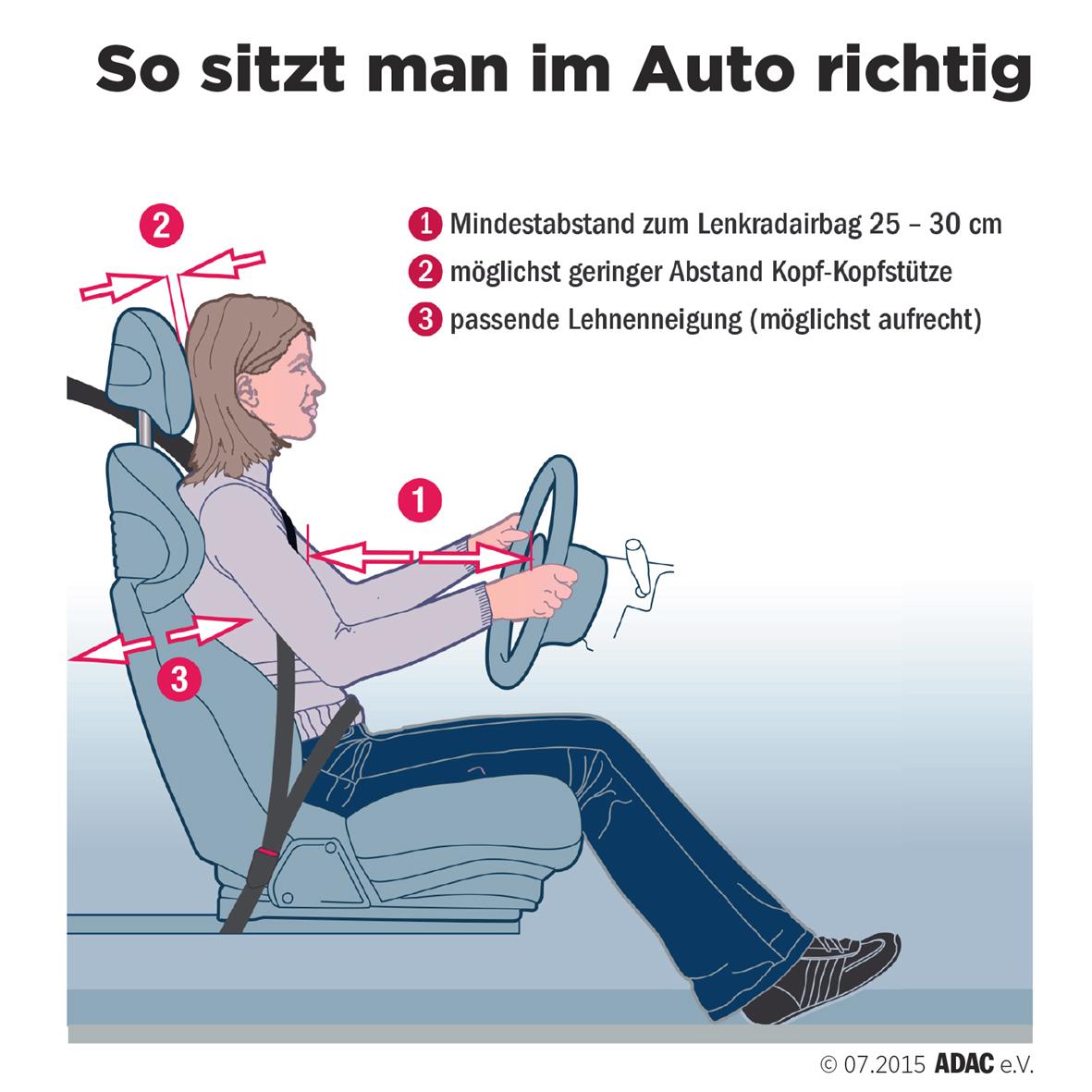 Auto Sitzposition