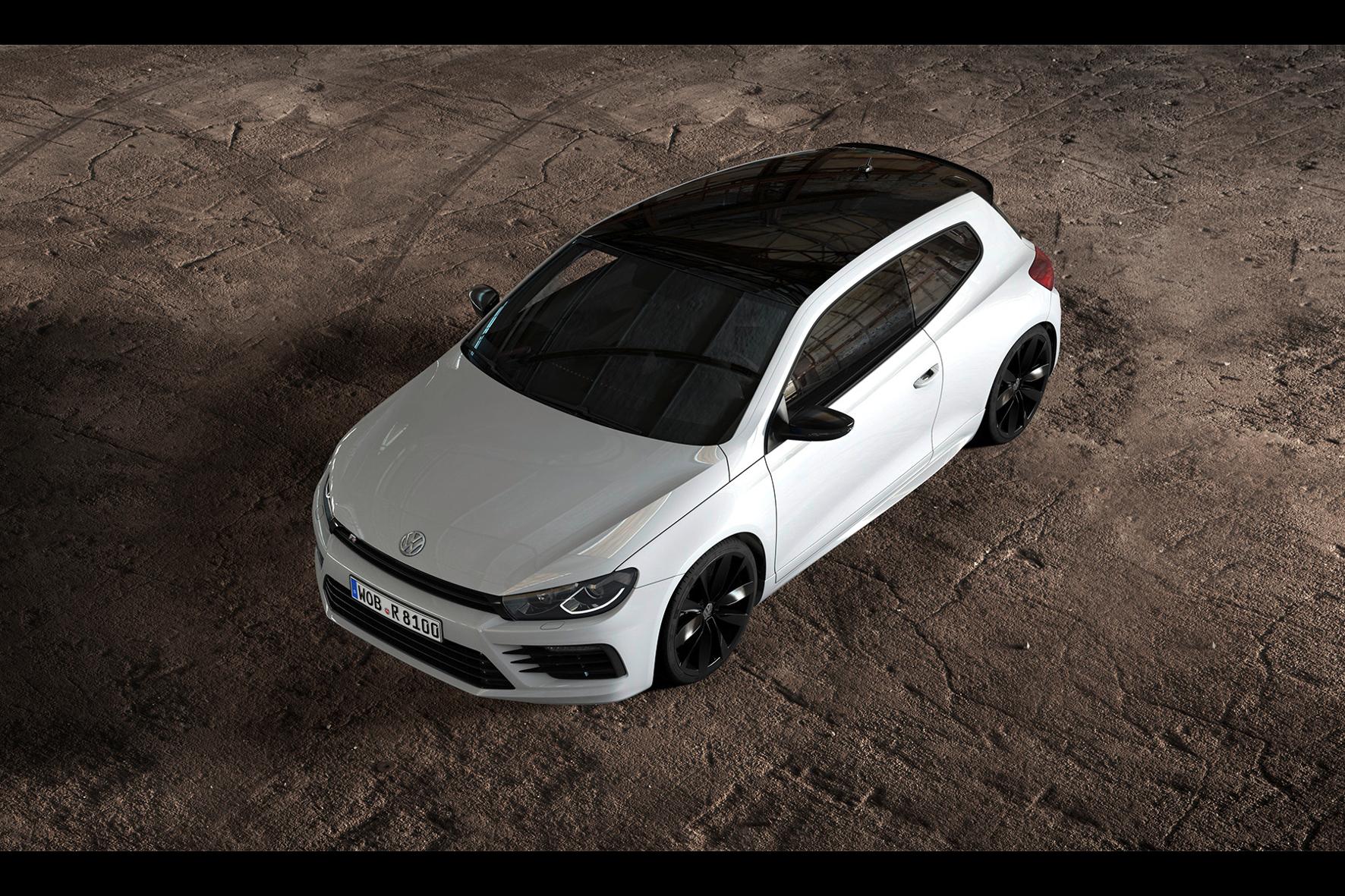 """mid Groß-Gerau - VW bietet für den Scirocco R jetzt das Design-Paket """"Black Style"""" an. Auffälligstes Merkmal ist das glänzend schwarz lackierte Dach."""