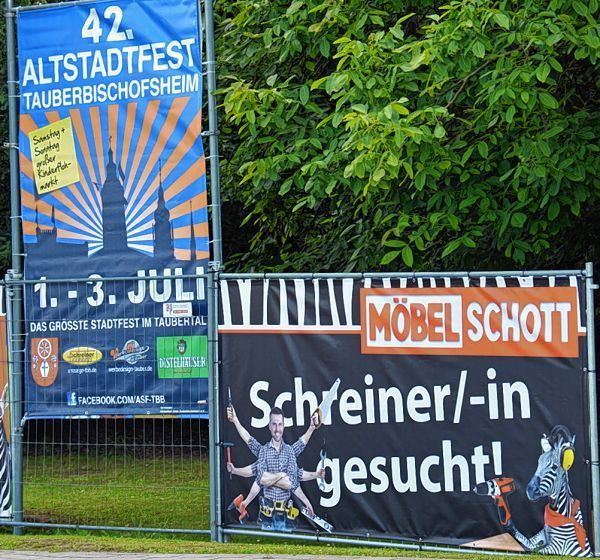 stellenausschreibung per plakat pr sentiert tauberbischofsheim k nigheim werbach main. Black Bedroom Furniture Sets. Home Design Ideas