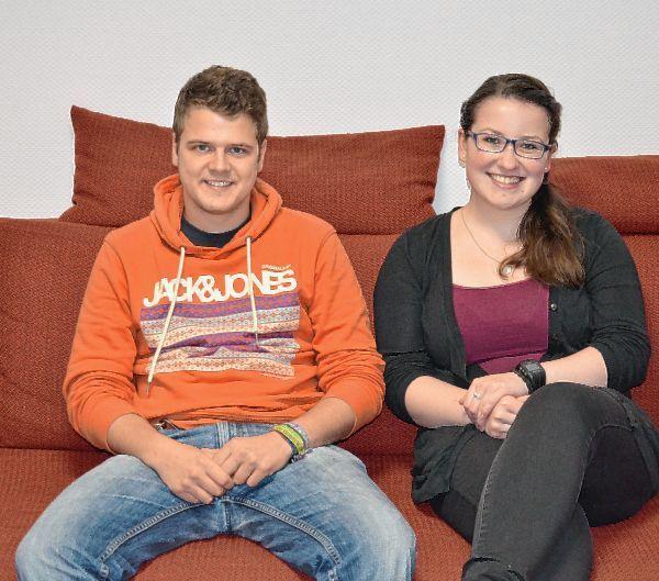 Die Stadträte Anthea Fischer und Felix Pflüger