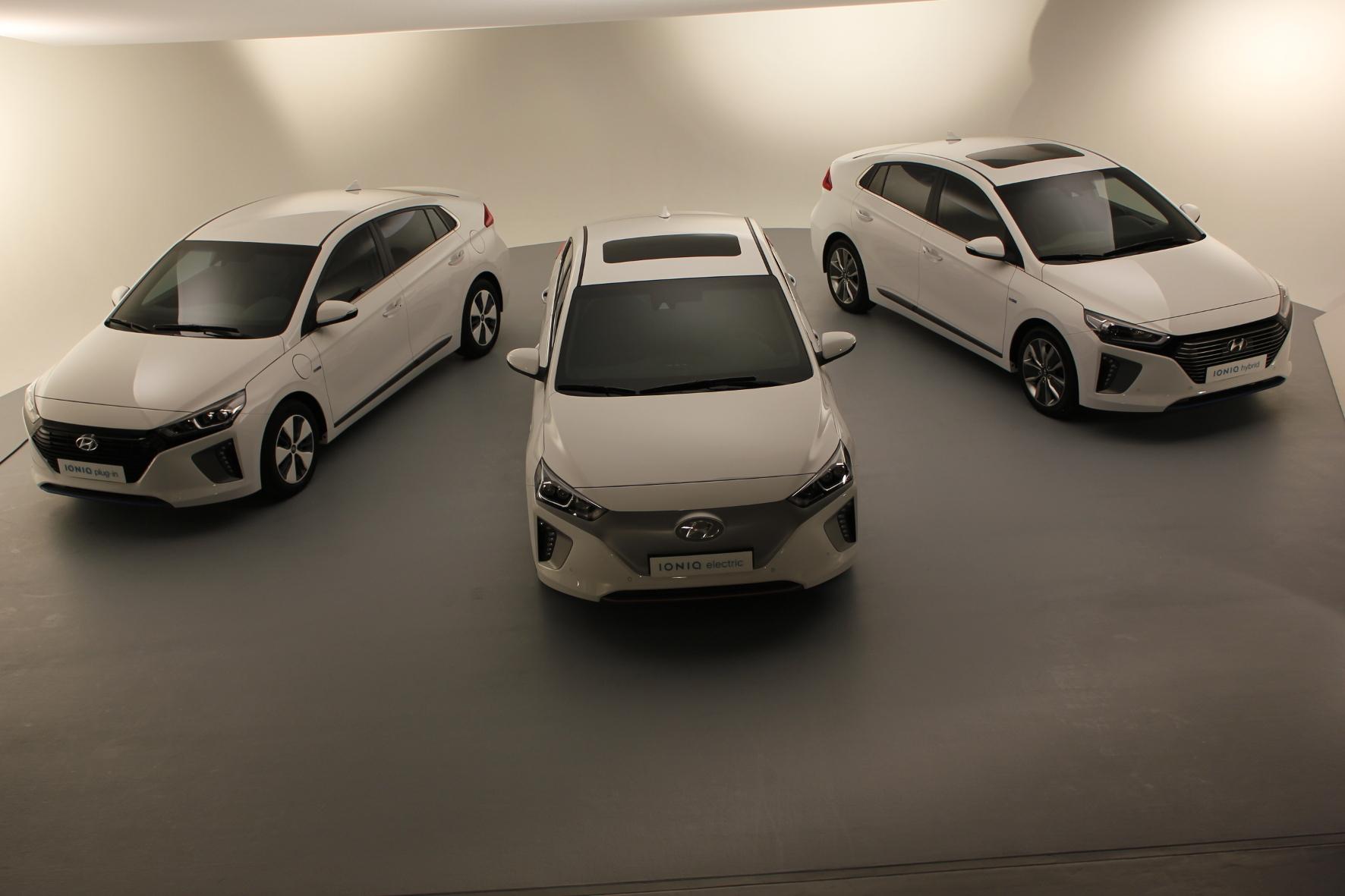 mid Groß-Gerau - Hyundais Ioniq wird 2017 mit drei verschiedenen Antriebsvarianten angeboten.