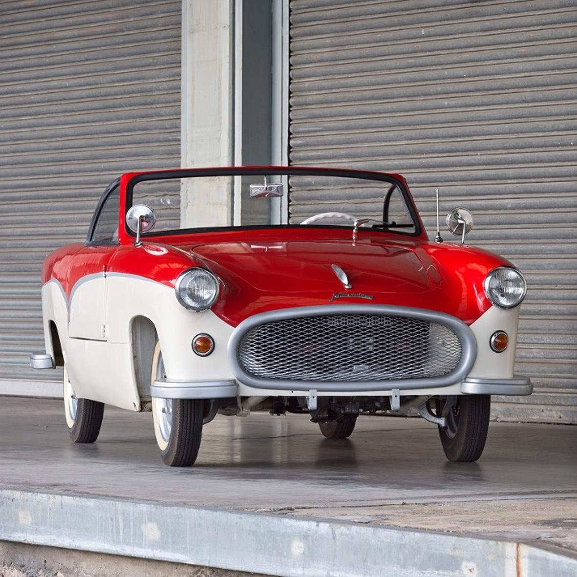 """mid Groß-Gerau - Eines der Highlights der """"Störy-Sammlung"""", das Unikat Kleinschnittger Spezial von 1954, ist künftig im """"PS.SPEICHER Einbeck"""" neben vielen anderen Fahrzeugen aus den Wirtschaftswunder-Jahren zu bewundern."""
