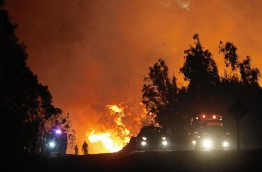 In Portezuelo, eine Stunde von Linares entfernt, wütete das Feuer besonders stark. Kathrin Kollmar ...