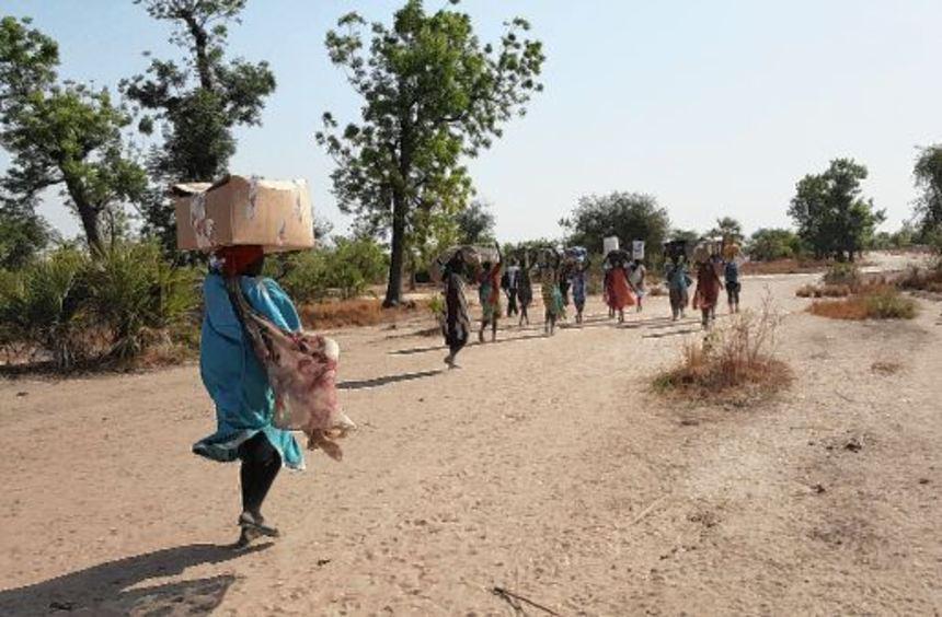 Die Zahl der flüchtenden Menschen im Südsudan geht in die Millionen - die meisten davon suchen ...