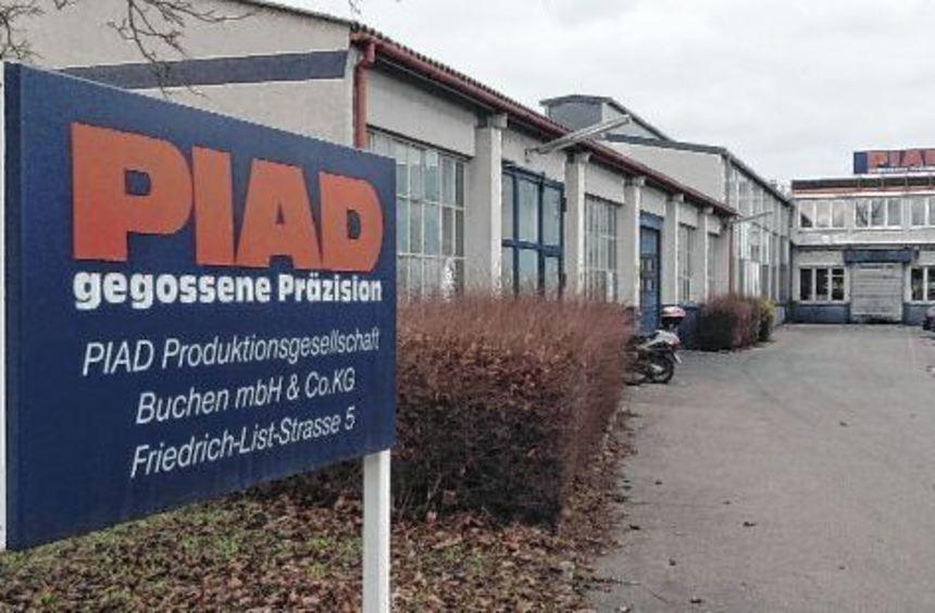 """Die Produktion soll bei der """"PIAD Produktionsgesellschaft Buchen mbh & Co. KG"""" zunächst fortgesetzt ..."""