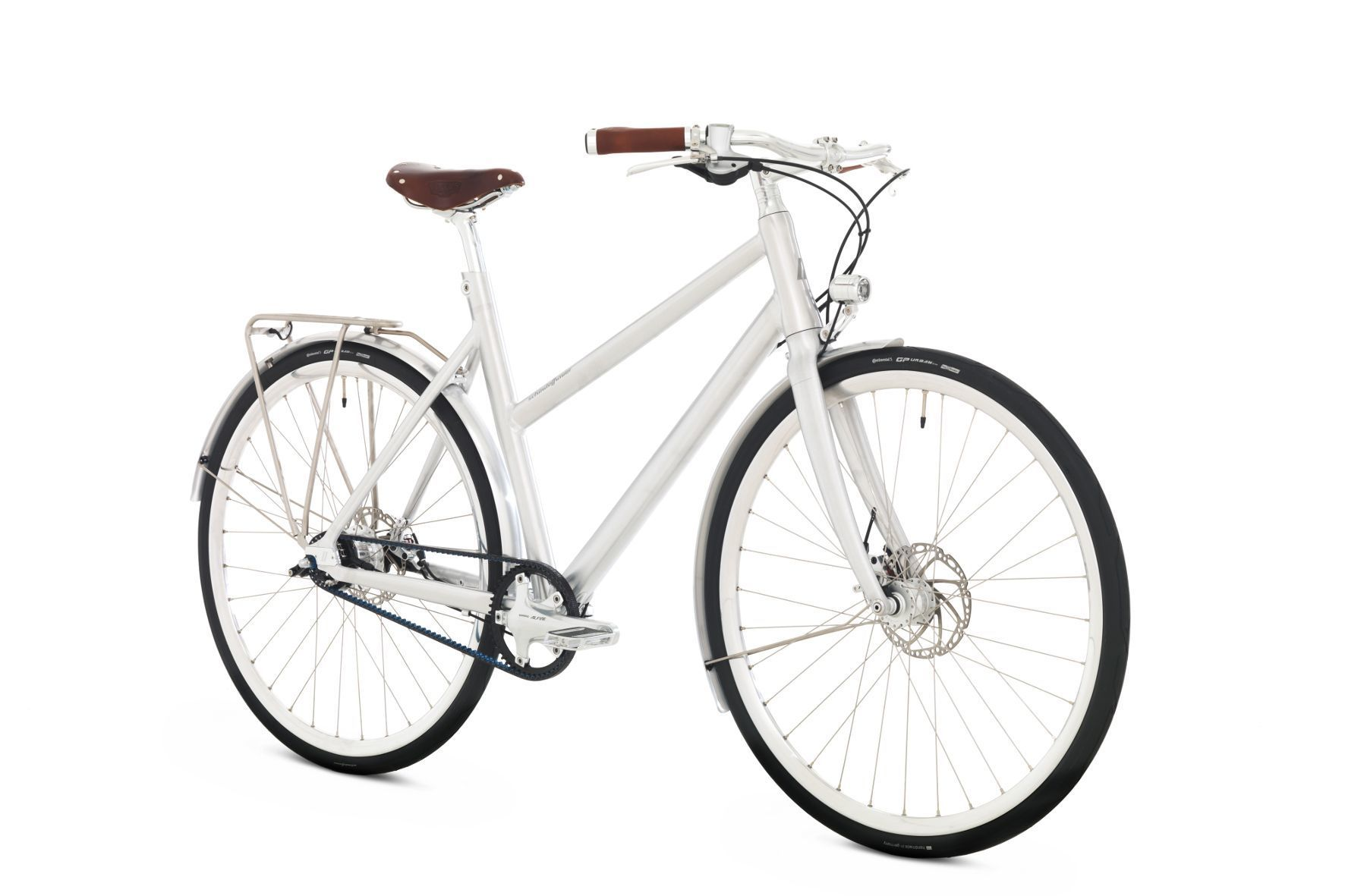 """mid Groß-Gerau - Ein Hauch von Nostalgie: Mit puristischem Design und einem Carbonfaser-verstärkten Zahnriemenantrieb kommt das Fahrrad namens """"Frieda"""" daher."""