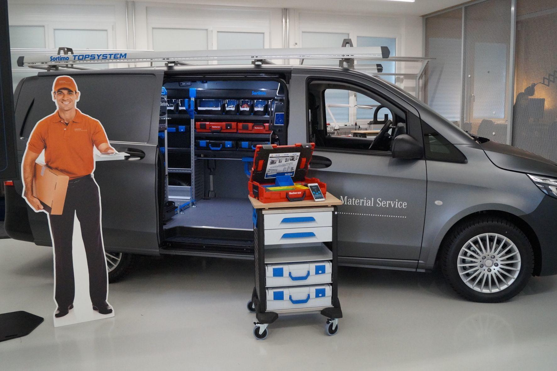 mid Stuttgart - Der Mobile Material Service von Daimler soll den Arbeits-Alltag von Servicetechnikern und Handwerkern effizienter gestalten.