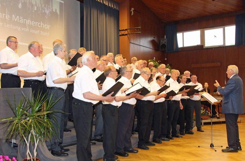 Der Jubiläumschor in Aktion: Die Sängergruppe I im Sängerbund feierte 20-jähriges Bestehen.