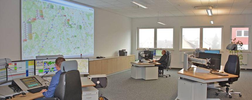 Blick in die neue Rettungsleitstelle des Landkreises Main-Tauber.