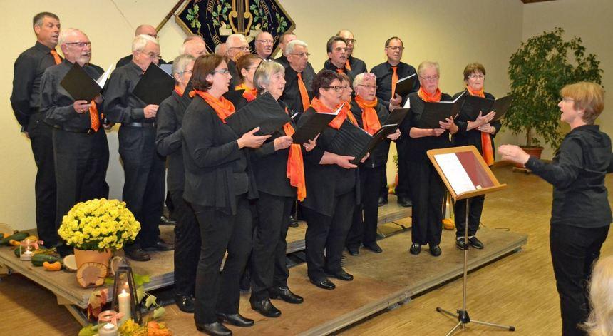 Der gemischte Chor des Gesangvereins Vockenrot feierte am Samstag mit einem Liederabend sein ...