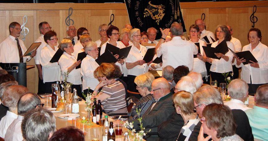 Der Gesangverein Rosenberg feierte als ältester Verein und bedeutender Kulturträger seinen 160. ...