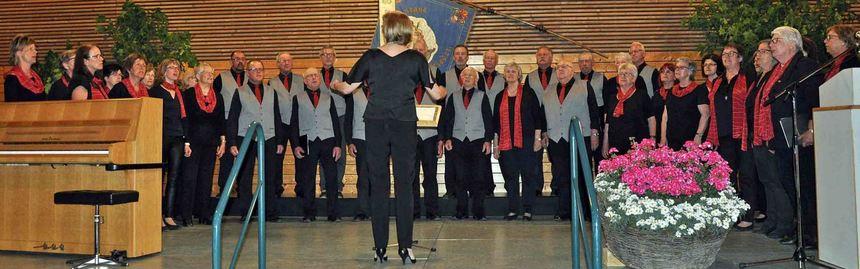 Die Aktiven der Singgemeinschaft Gissigheim bei ihrem gelungenen Auftritt.
