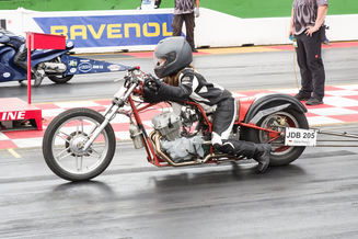 Auch Junior Dragbike-Piloten wie Marie Rosen waren bei den Public Race Days am Start.