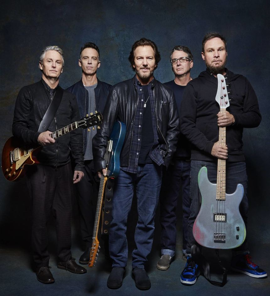 Als Pearl Jam noch in Form (v.l.): Mike McCready, Matt Cameron, Eddie Vedder, Stone Gossard und ...